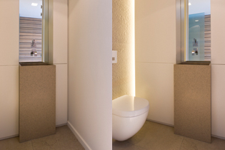 Lignum interieur projecten for Indirecte verlichting toilet